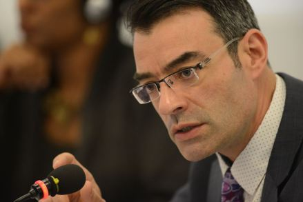 "James Cavallaro, president of the Inter-American Commission: It is important to bring ""the voices of LGBTI people into our work to challenge the invisibility of the serious human rights violations that they continue to face."" (Photo courtesy of conectas.org)"