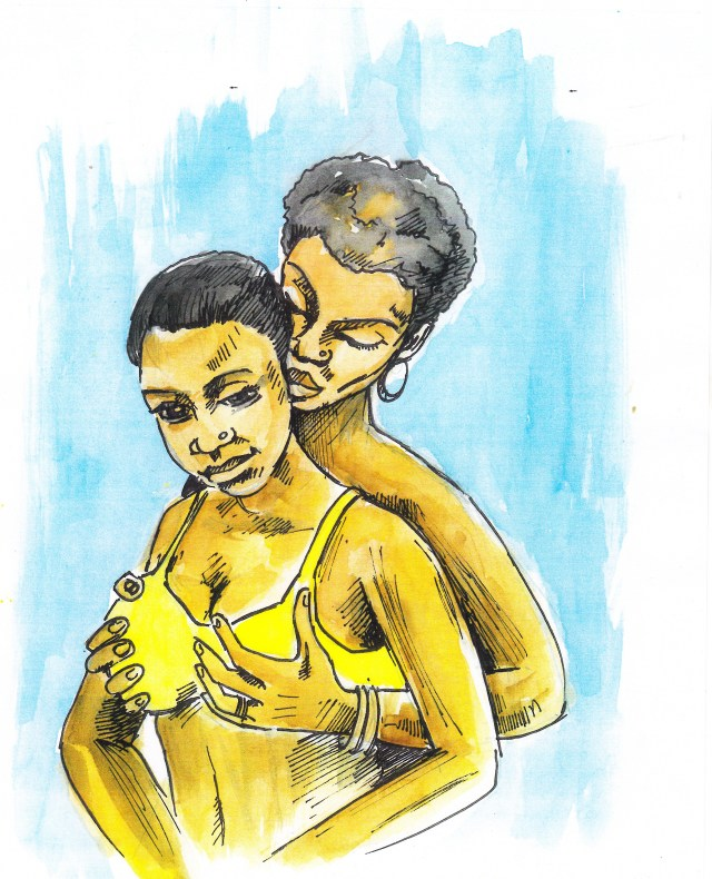 """Artist Vincent Kyabayinze comments, """"Love doesnt ask why. We are free to love who we choose."""""""