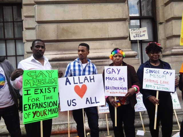 Gay Muslims appeal for tolerance during the London Pride march. (Photo courtesy of OPDG)