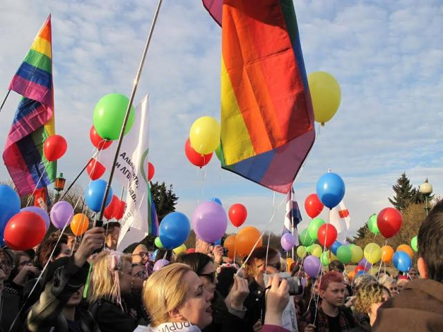 IDAHOT 2017 demonstration in St. Petersburg, Russia. (Photo courtesy of Coming Out St. Petersburg)