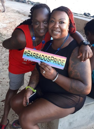 Supporters of Barbados Price. (Photo courtesy of Maurice Tomlinson)