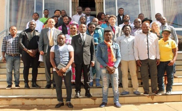 LGBT rights activists in Cameroon meet to plan their national human rights monitoring project.