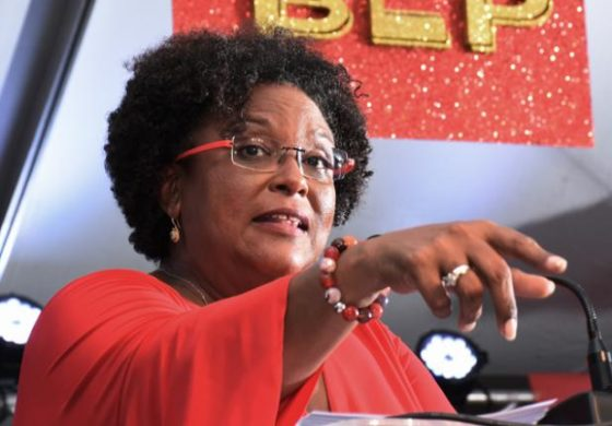 The new prime minister of Barbados, Mia Mottley (Photo courtesy of St. Lucia Times)
