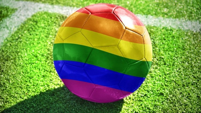 Image of rainbow-colored ball is courtesy of Coming Out