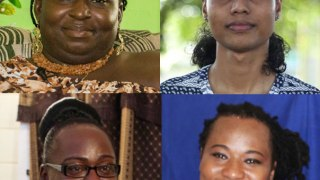 Four trans citizens of Guyana (clockwise from upper left): Gulliver (Quincy) McEwan, Alessandra Hereman, Pheches (Joseph) Fraser and Angel Clarke. (Orpheao Griffith photos courtesy of Stabroek News and the Caribbean IRN Blog.