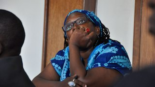 Stella Nyanzi again faces charges in court. (Photo courtesy of The Observer)