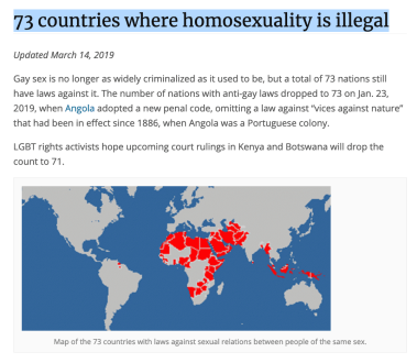 Click on this image to visit this blog's tally of 73 nations with anti-gay laws.