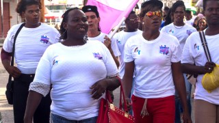 Guyana Trans United march for transgender visibility on March 31, 2019. (Photo courtesy of the Caribbean IRN Blog)