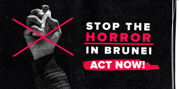 Petition by All Out calls on the U.S. to take a stronger stance on Brunei's harsh laws. Click to image to read the petition.