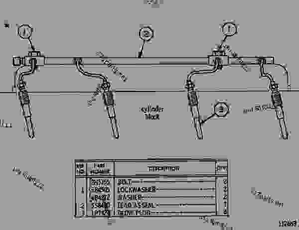 Parts scheme 5S8500 GLOW PLUG GROUP GLOW PLUG GROUP