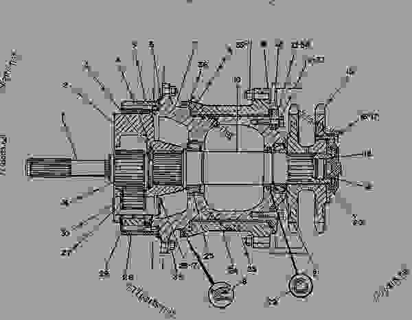 caterpillar 140h service transmission power diagram