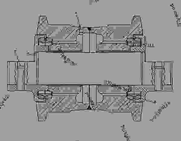 8E0830 ROLLER GROUP-TRACK TRACK ROLLER GP-SINGLE FLANGE