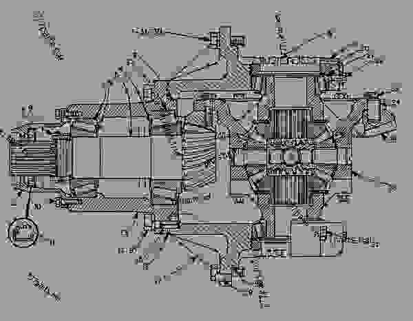 8K6512 FRONT AND REAR DIFFERENTIAL AND CARRIER GROUP