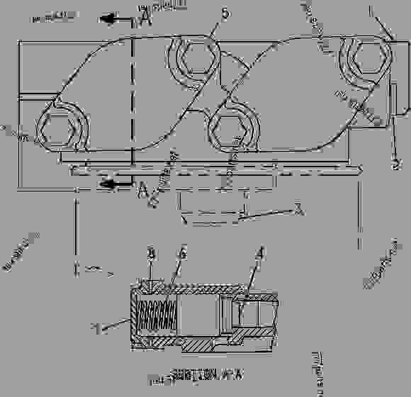 8N4457 BASE GROUP-OIL FILTER BASE GROUP-ENGINE OIL FILTER