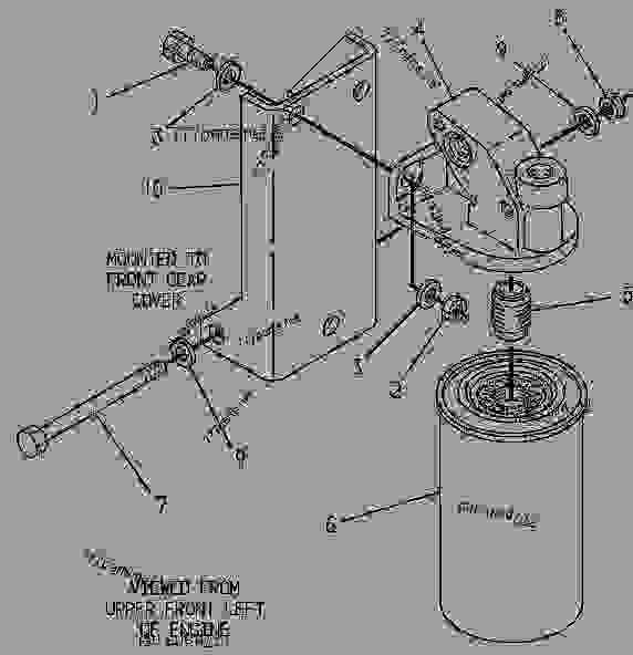 Caterpillar 3412 Fuel System, Caterpillar, Free Engine