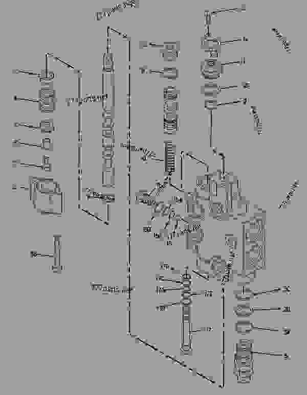 Caterpillar Backhoe Hydraulics Schematics, Caterpillar