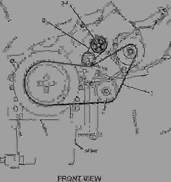 caterpillar belt diagram