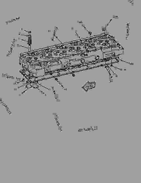 Parts scheme 7N8876 CYLINDER HEAD GROUP CYLINDER HEAD