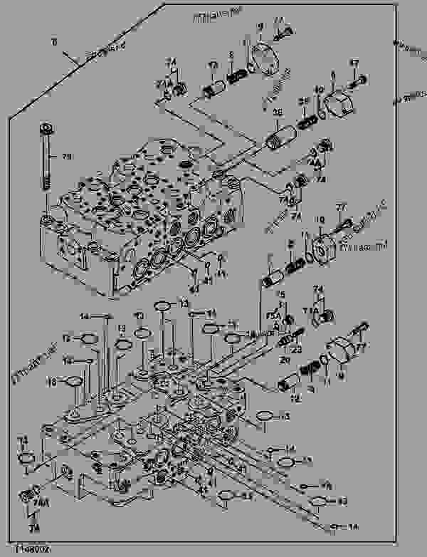 CONTROL VALVE COMPONENTS (4-SPOOL AND 5-SPOOL MANIFOLD