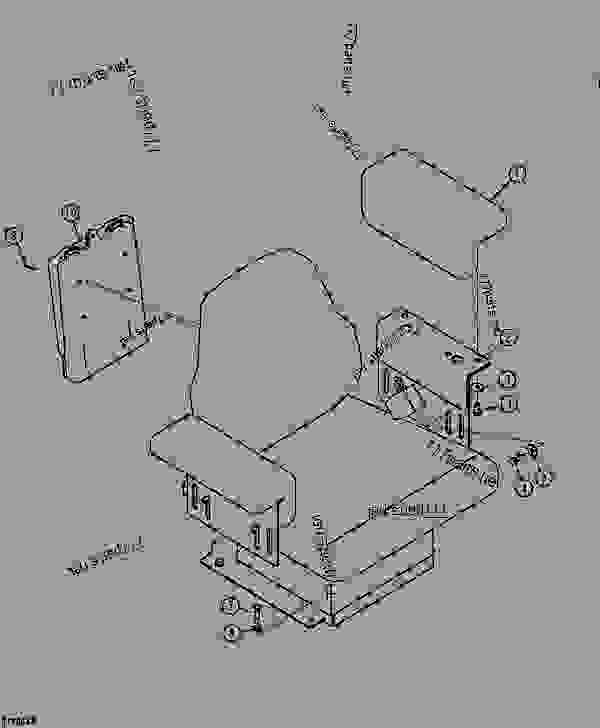 SEAT ARMREST AND OPERATOR MANUAL HOLDER (AIR SUSPENSION