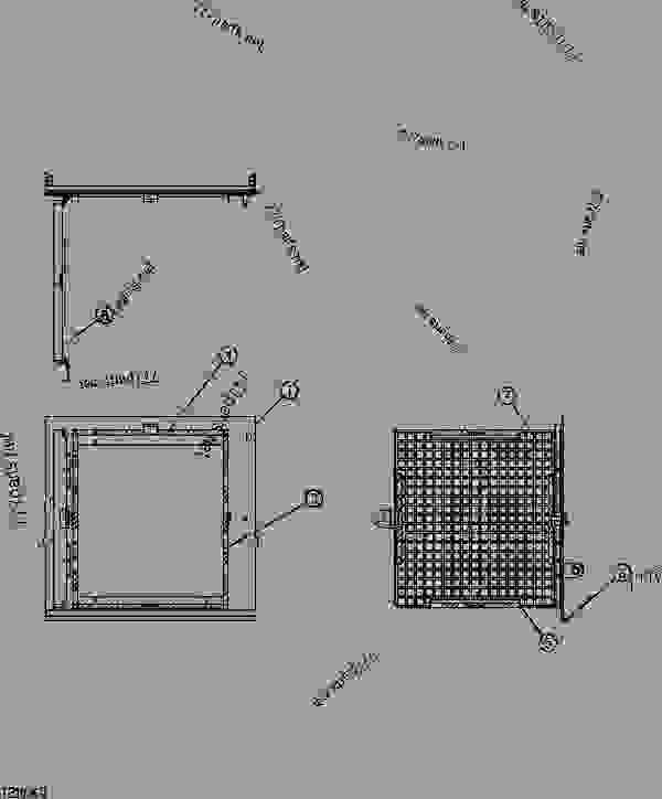 OIL COOLER DOOR (PROCESSOR CONFIGURATION)(SN 200064