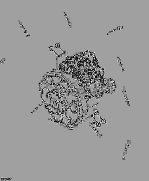 HYDRAULIC PUMP MOUNTINGMONTAGE DE POMPE HYDRAULIQUEMONTAJE