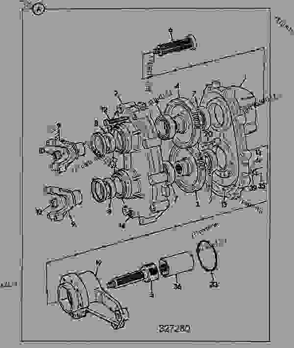 DROPBOX-HELICAL GEAR, PERMANENT 4WD, FOR AXLE RATIO 16.16