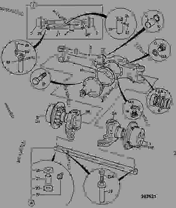 AXLE ASSEMBLY, FRONT,MAXTRAC 18.6:1, 20