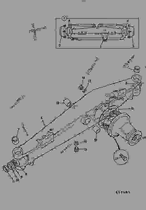 AXLE ASSEMBLY, DRIVE, STEERING, PIVOT MOUNTED
