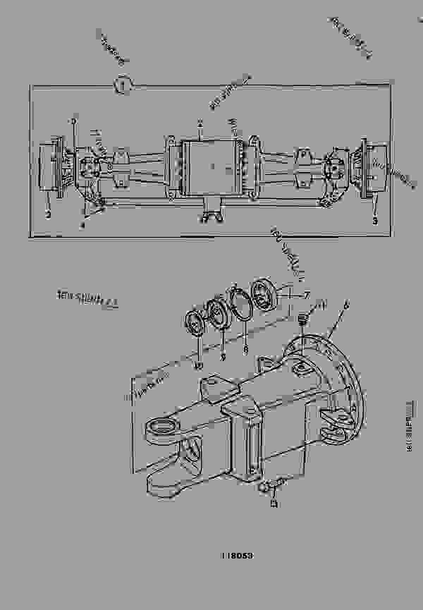 AXLE ASSEMBLY, DRIVE, STEERING, 3 PIECE PIN MOUNTED, SWAY