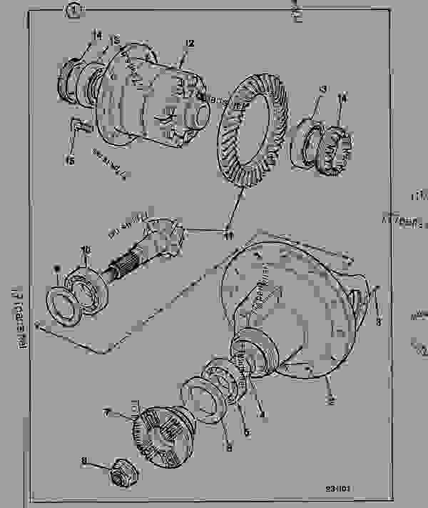 454/27900 Differential, drive head assembly, MAXTRAC