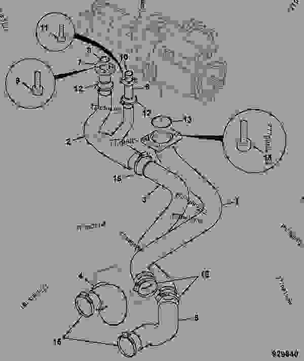 SUCTION HOSES, HYDRAULIC PUMP 85CC, CVT GEARBOX