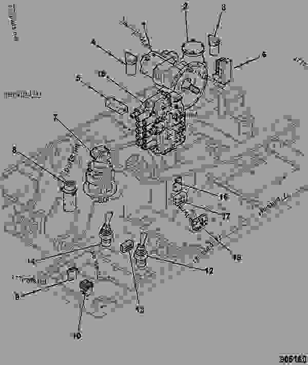 CIRCUIT, HYDRAULIC COMPONENTS, LAYOUT, REVOLVING FRAME