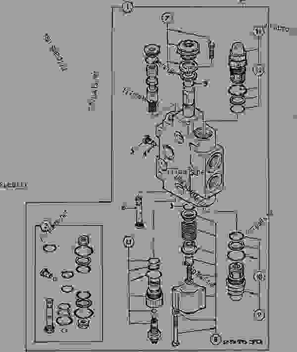 VALVE SECTION 1, AUX, EXCAVATOR VALVE, V.FLOW PUMP