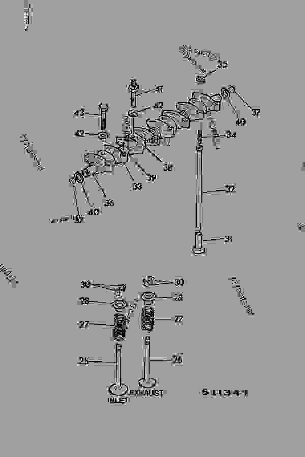 ROCKER ASSEMBLY, INLET/EXHAUST VALVES, PUSH RODS & TAPPETS