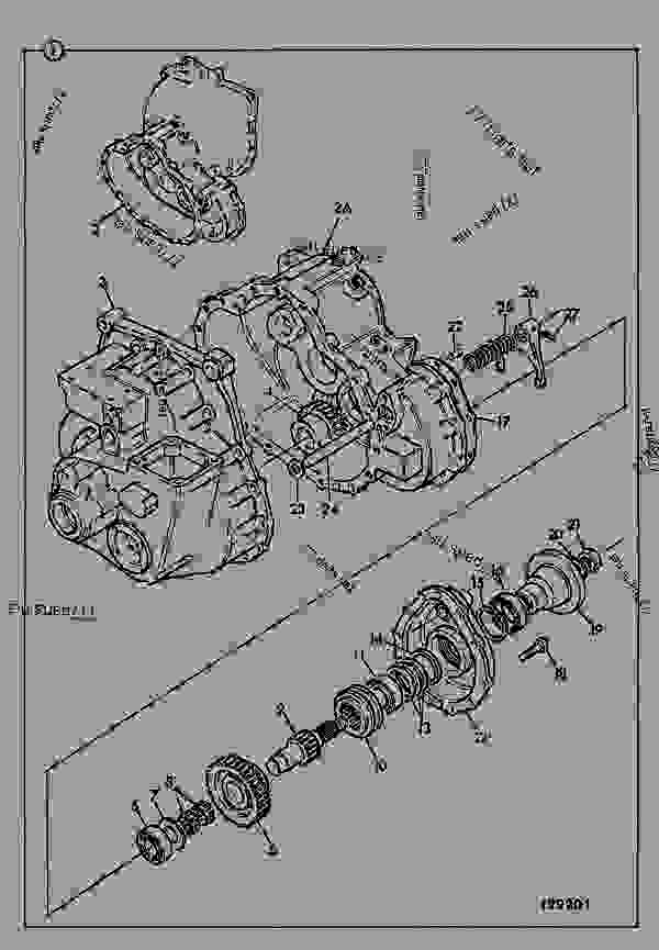 TRANSMISSION, JCB SYNCRO SHUTTLE, 4WD WITH DROP BOX
