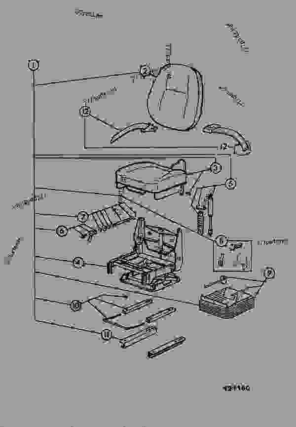 40/207900 Seat, Vinyl,suspension, Bostrom Viking 301K