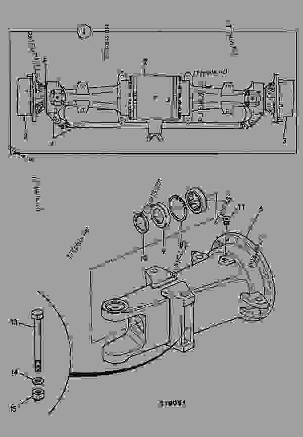 AXLE ASSEMBLY, DRIVE, STEERING, 3 PIECE PAD MOUNTED
