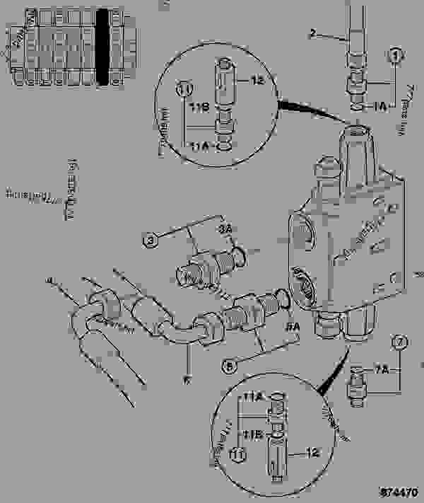 HOSE AND PIPEWORK, BOOM SECTION, EXCAVATOR VALVE