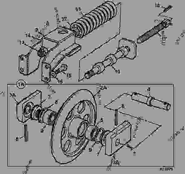 IDLER WHEEL, & RECOIL UNIT, RUBBER TRACK ONLY