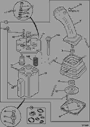 VALVE SERVO,, JOYSTICK CONTROL, RIGHT HAND  CONSTRUCTION
