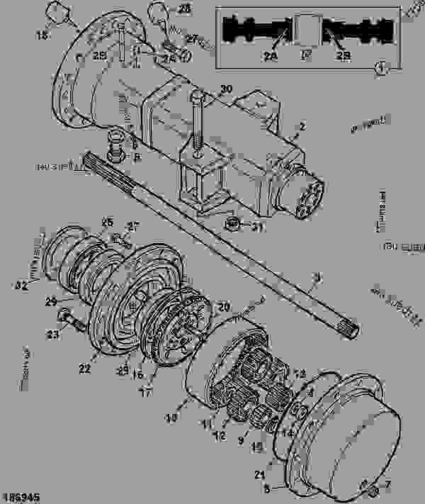AXLE ASSEMBLY, 18.16:1 RATIO, 450/32900 32KPH