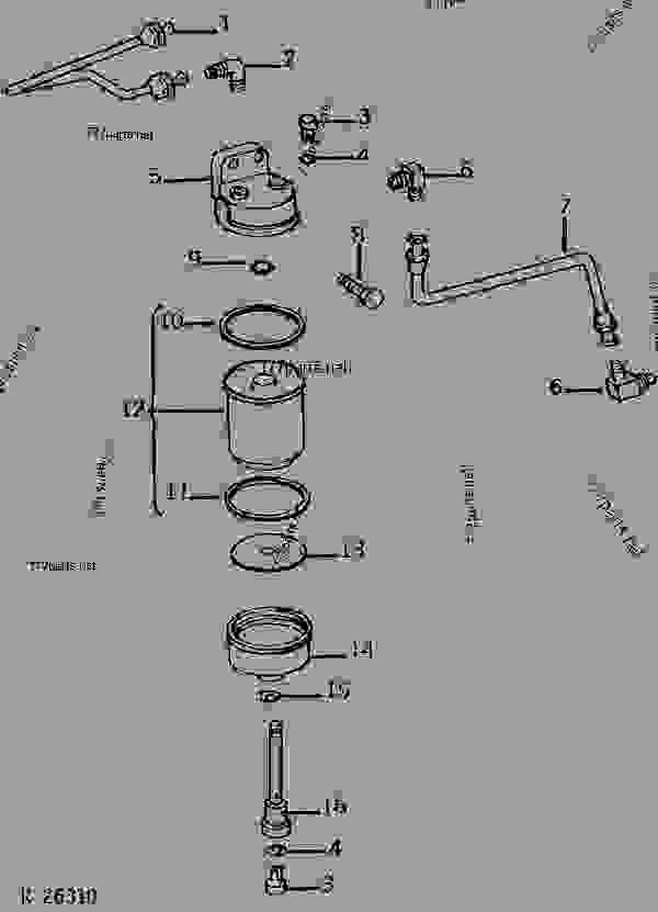 SINGLE STAGE FUEL FILTER ASSEMBLY (DIESEL) [01D19