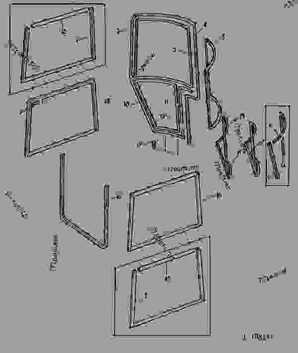 John Deere Sg2 Cab Door.Dachhimmel Set Inkl Sprhkleber Fr