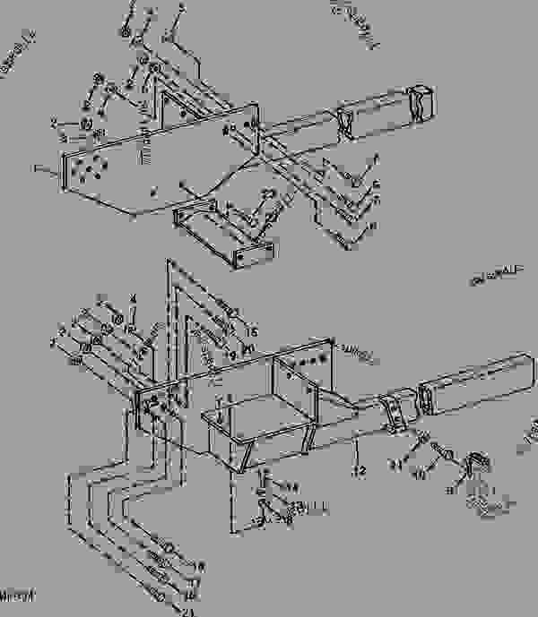 MOUNTING FRAMES(UTILITY TRACTOR)(REAR ATTACH) [A11