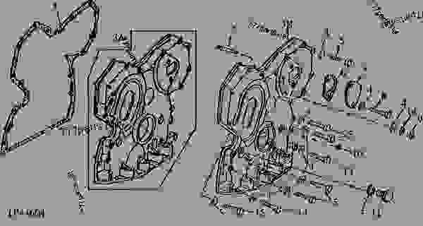 CODE 4499 TIMING GEAR COVER WITHOUT TACHOMETER DRIVE(6059