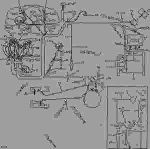 GENERATOR AND STARTER WIRING (DIESEL) [01F14]  TRACTOR