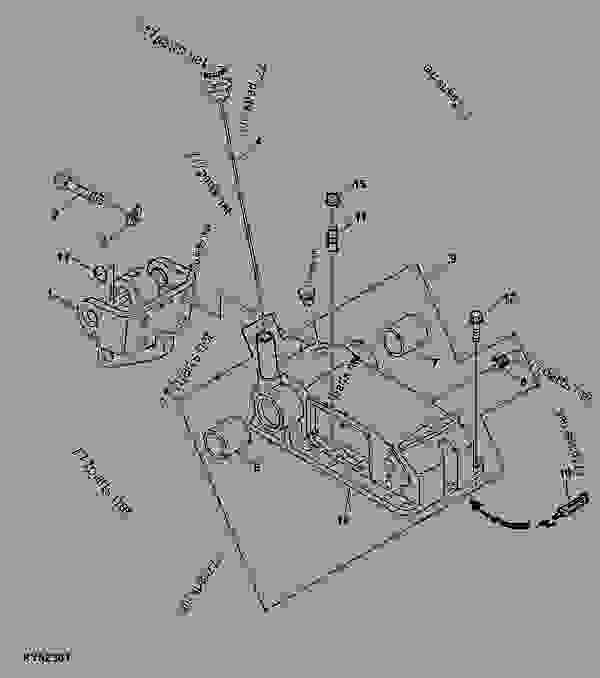 ROCKSHAFT HOUSING, DIPSTICK AND CENTER LINK BRACKET (JOHN
