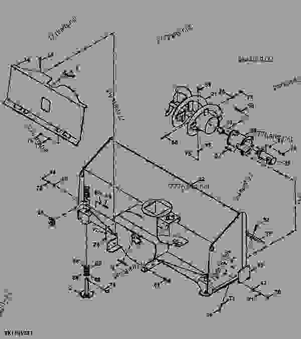 Snowblower Main Housing, Frame, And Auger (High Flow