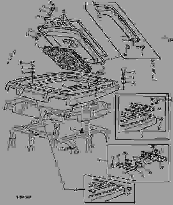 l7 wiring diagram photoelectric switch outer roof with fixed hatch (comfortgard cab) - tractor john deere 6400 6200, 6300 ...